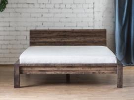 Beržo masyvo dvigulės medinės lovos