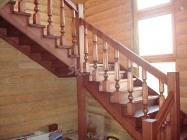 Parketo slifavimas-mediniu laiptu restauravimas - nuotraukos Nr. 4
