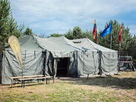 Karinių palapinių nuoma Lietuvoje
