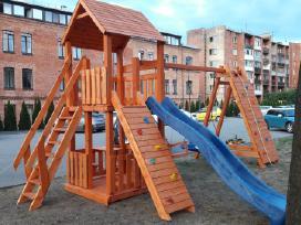 Vaikų žaidimo aikštelių gamyba.