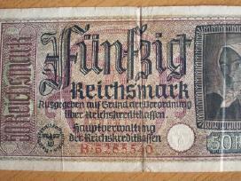 50 - ies Reichsmarkių vienas banknotas