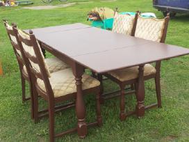 Pietų stalas, minkštas kampas, foteliai