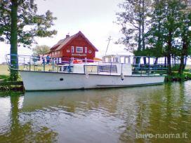 Keleivis Laivas Minija 24 keleiviu.