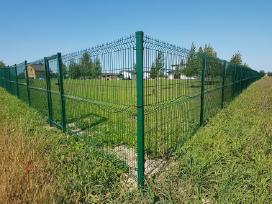 Segmentinės tvoros. Tvoros montavimas.