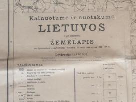 Lietuvos kalnuotumo ir nuotakumo žemėlapis 1918-20 - nuotraukos Nr. 2