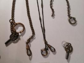 Senovinių laikrodžių grandinėlės - nuotraukos Nr. 3