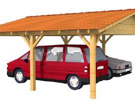 6x6m 3x6m Automobilio stoginės, mediniai garažai