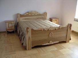 Medžio masyvo lovos, spintelės