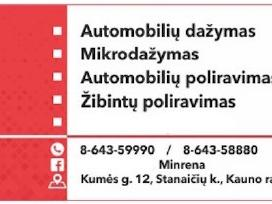 Kokybiškas automobilių dažymas Kaune