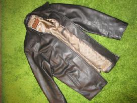 Striukė tikros odos, beveik nauja, juoda Xl-xxl