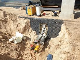 Angų- skylių gręžimas betone