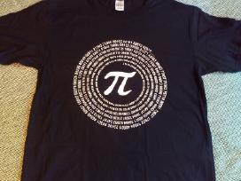 Marškinėliai su ženklu Pi S dydžio