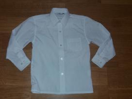 Balti kokybiški marškinukai 110-116-122 dydis