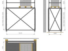 Mūrininko pastoliai (stelažai) 1,09m pločio - nuotraukos Nr. 5