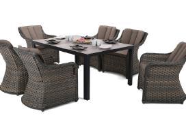 Lauko baldų komplektas Capri 145 cm 6+1
