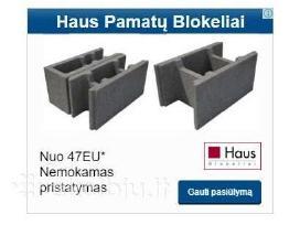 Parduodu Kaminus Haus blokelius Surenkama perdanga
