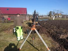 Drenažo, nuotekų, vandetiekio įrengimo darbai