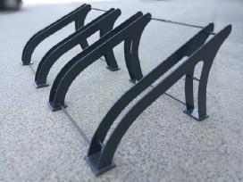 Dviračių stovai, šiukšliadėžės, įv.metalo gaminiai
