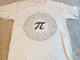 Marškinėliai su Pi ženklu M dydis