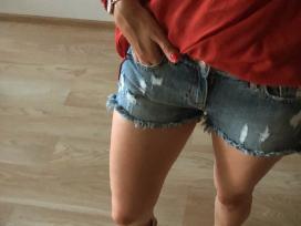 Plėšyti džinsiniai šortai - nuotraukos Nr. 3