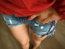 Plėšyti džinsiniai šortai - nuotraukos Nr. 4