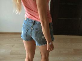 Plėšyti džinsiniai šortai - nuotraukos Nr. 9