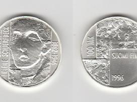 Suomijos monetos 10-100 mark. nuo 1967 iki 2001m.