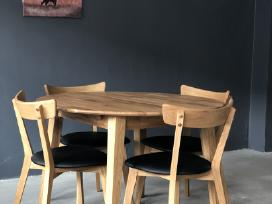 Skandinaviško stiliaus ąžuolinius stalus
