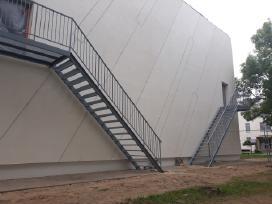 Laiptai,stoginės,terasos,tvoros,turėkla,vartai