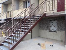 Laiptai, stoginės, terasos, tvoros, turėkla,vartai