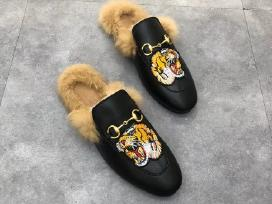 Nauji odiniai Gucci bateliai/slepetes su kailiu - nuotraukos Nr. 3