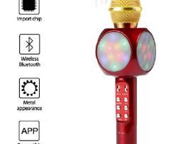 Išmanus Karaoke Mikrofonas Su Šviesos Efektu