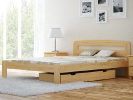 Akcija! Medinė lova aukštas galvūgalis tik 60€