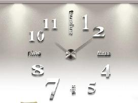 3D Veidrodinis sieninis laikrodis