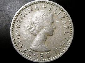 Jungtinė Karalystė 6 pensai, 1955