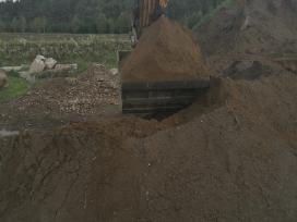 Pigiai sijotas augalinis, juodžemis, betono skalda
