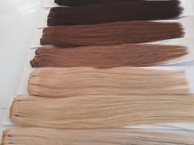 Nauji naturalus plauku tresai ir kasos