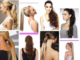 Nauji naturalus plauku tresai-kasos