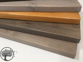 Tvoros lentelės, tvoros lentelių dažymas