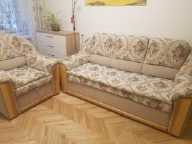 Trivietė miegama sofa su foteliu