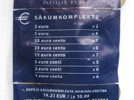 Latviski eurai - banko pakuoteje...zr. foto