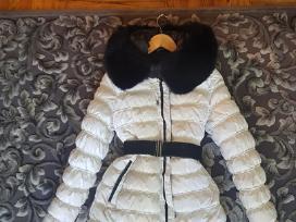Žieminė striukė su naturaliu kailiu
