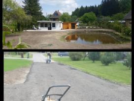Aplinkos tvarkymas.aikštelių, kelių įrengimas