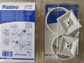 Lietvamzdžių laikikliai Plastmo 75 mm white
