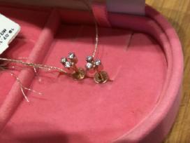 Auksiniai auskarai su fianitai.