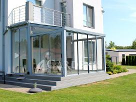 Verandos, terasų stiklinimas, stoginės