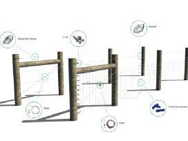 Tvoros stulpai , tinklai, vartai ,tveriame tvoras, - nuotraukos Nr. 15