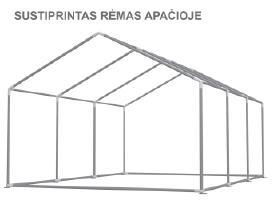 Parduodu sodo palapinę paviljoną Pvc 500g/m2 - nuotraukos Nr. 4