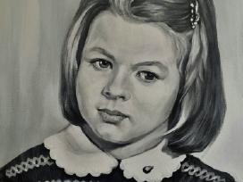 Mergaitės portretas.Drobė,akrilas.40/5 - nuotraukos Nr. 3