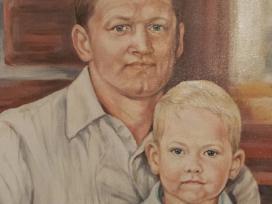 Tėvo ir sūnaus portretas. Drobė,akril - nuotraukos Nr. 16
